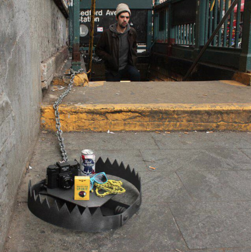 I'm all for expediting the age of hipsters, and these traps set around NYC will most certainly do the trick.