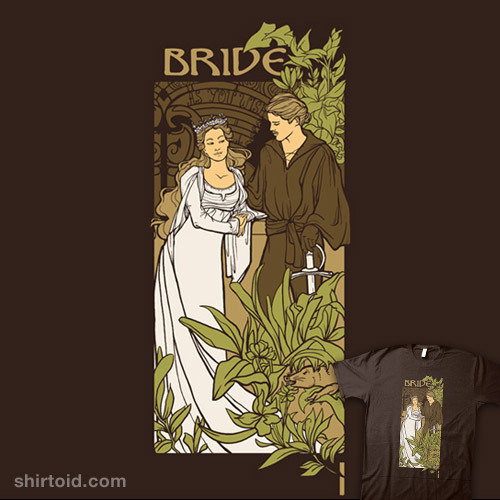 shirtoid:  Bride by Karen Hallion is $10 today only (4/10) at TeeFury