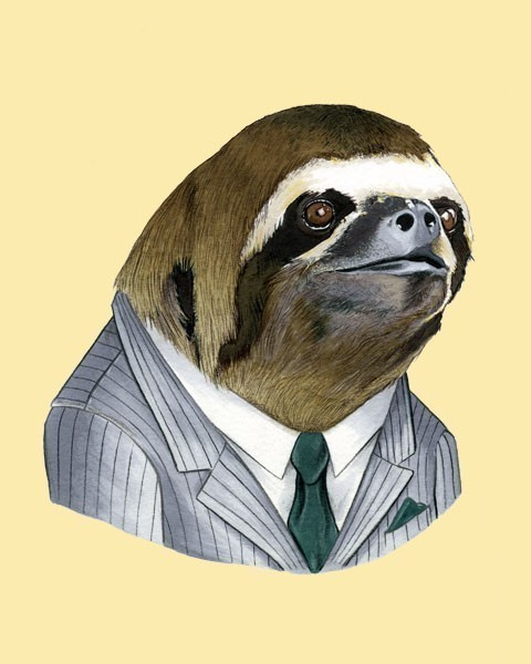 Business sloth is ready.
