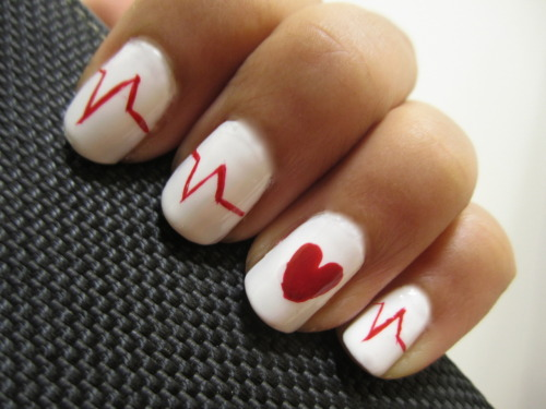 Heartbeat Nails. Click pic for tutorial :)