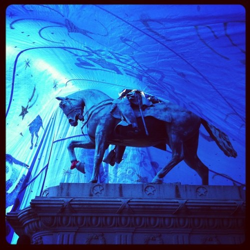 Inside the Tent of Dreams at Occupy DC. Dramatic photo. (via ohmykevin, photo by HuffPo's Sara Kenigsberg)