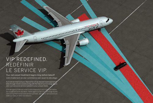 MeniThings CG image for Air Canada print campaign. Jet/tarmac/limo by Meni Tsirbas. Agency: Low Profile. Photographer: Daniel Cianfarra.