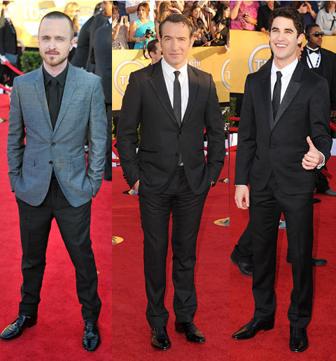 gq:  via gqfashion:  The 10 Best-Dressed Men at the SAG Awards Last night was all about actors honoring actors. This morning, it's all about us telling you who killed it on the red carpet. Our top-ten best-dressed men from the second leg in the awards season triple crown. See the full list here.   I wish I could attend a red carpet event and be one of these guys ;)