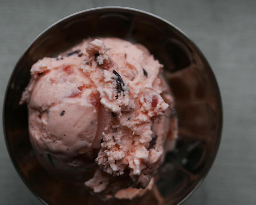 milkmade flavor of the day: Cordially Yoursa cherry cordial in ice cream form. amaretto, cherry ice cream with chunks of maraschino cherries and chocolate chips   Love is in the Air!Happy February! It's been a while since we've shared our daily creations with you, but we're back on track now with love (or lack thereof) themed 'screams for the next couple weeks leading up to V-Day.  We're starting things slow and sincere, like any true love, with Cordially Yours, our ice cream version of those delicious chocolate candies.