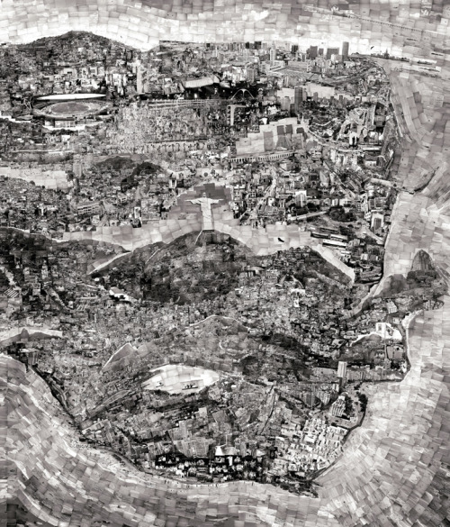 architizer:  Diorama Map by Sohei Nishino: thousands of photographs collaged into a personal mental map of Rio de Janeiro.