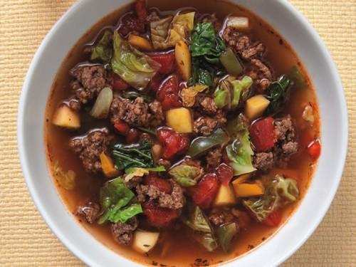 Sweet & Sour Beef-Cabbage SoupGet the recipe!