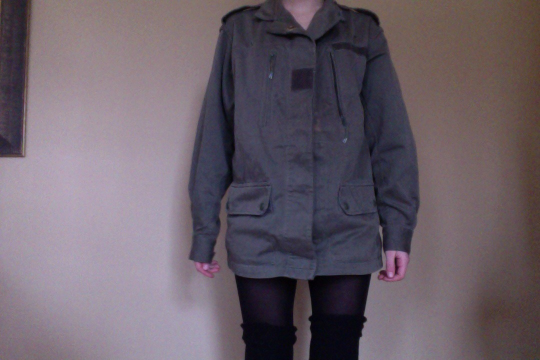 Got this jacket, which was imported from the French Army, at a little thrift shop in the Village while I was in NYC. Cheap too!