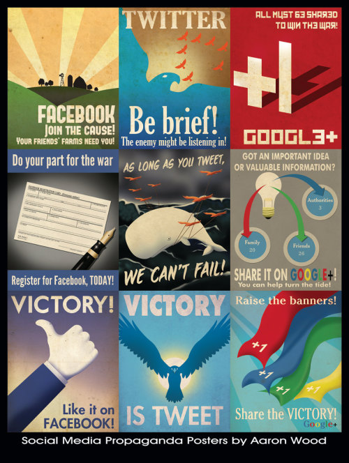 Social Media Propaganda Poster, by Aaron Wood, graphic designer on Etsy.