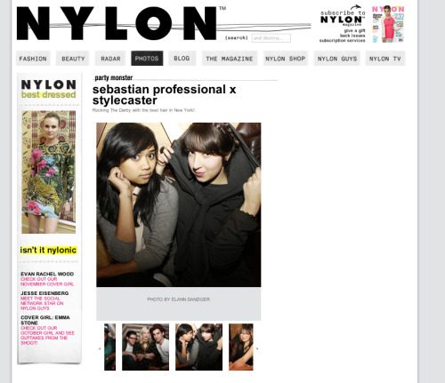 NylonMag, Party Monster:  sebastian professional x stylecaster We had a great time at StyleCaster and Nylon's Sebastian Professional event at The Darby, last week!   Thanks so much to Susie @ StyleCaster fo the invite (and the awesome DJ tunes), and photographer Elann, for snapping our pic… without which we might never have been included in this Nylon post. (subtle #cluelessreference)
