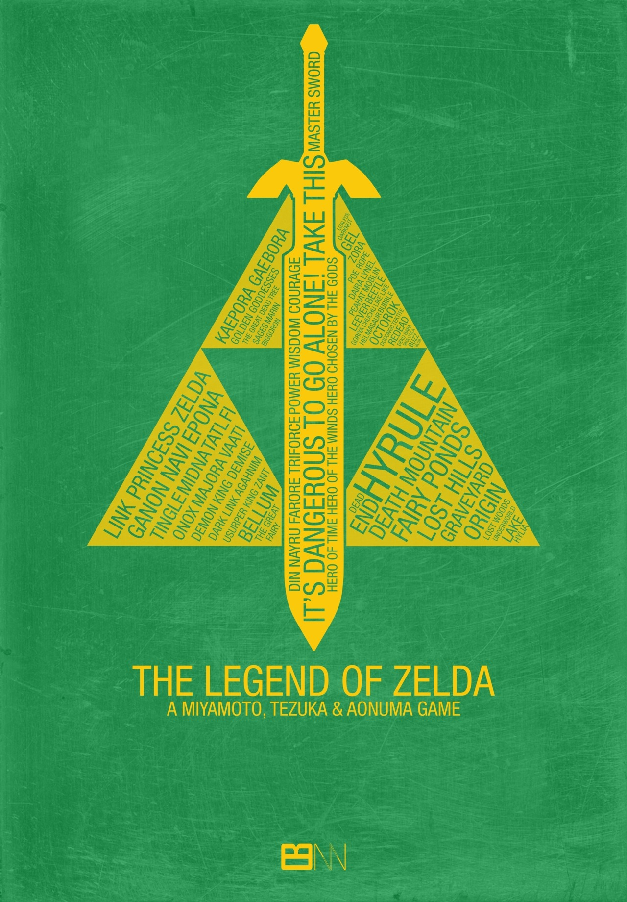 The Legend of Zelda Typography by Kody Christian  T-Shirt | iPhone Case | Laptop Skin | Art Print (via nerdwire)