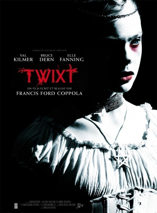 TWIXT Director: Francis Ford Coppola Writers: Francis Ford Coppola Stars: Val Kilmer, Bruce Dern and Ben Chaplin  Synopsis:  A writer with a declining career arrives in a small town as part of his book tour and gets caught up in a murder mystery involving a young girl. That night, in a dream, he is approached by a mysterious young ghost named V. He's unsure of her connection to the murder in the town but is grateful for the story being handed to him. Ultimately he is led to the truth of the story, surprised to find that the ending has more to do with his own life than he could ever have anticipated.
