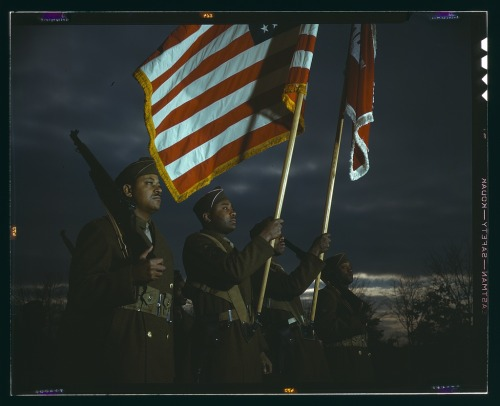 Color guard of Negro engineers, Ft. Belvoir(?), [Va.] [between 1941 and 1945]  http://www.loc.gov/pictures/resource/fsac.1a35472/