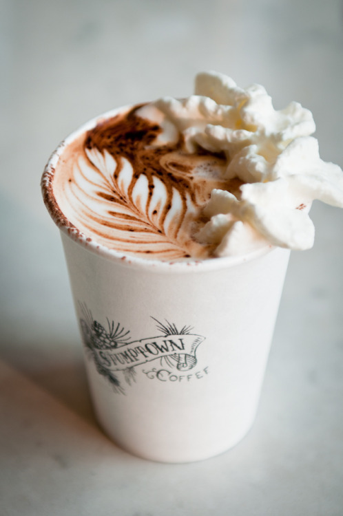 gastrogirl:  stumptown coffee with whipped cream.