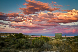 "Sunset from Fontenelle Reservoir, La Barge, Wyoming""Every sunset brings the promise of a new dawn."" -Ralph Waldo Emerson  I forgot just how beautiful Wyoming can be! This is a image from a sunset I had long forgotten about until stumbling back upon it today. Myself, a friend, and our dogs were camped out by Fontenelle Reservoir in South West Wyoming on the open plain while doing some field research in the area. This was the home we came back to after a long days work of taking measurements in remote places, 30 miles in on winding dirt roads. This particular sunset was especially beautiful and was a nice way to relax before sitting around the fire and waking up early the next morning to get to our outdoor ""office"" early to take some more samples. There is a certain beauty that the openness and barrenness of the rolling sage brush hills of south west Wyoming has that is, in my opinion, a unique landscape that sure has grown on me."