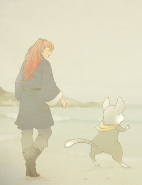 the-kirin:  (Fanart by 横井) Youko and Rakushun