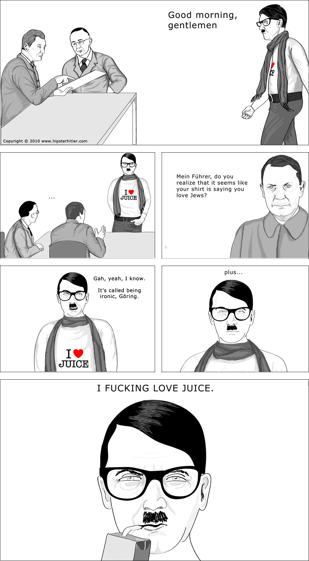 paraphil:  Hipster Hitler comix… this one is a funny word play on a serious topic…