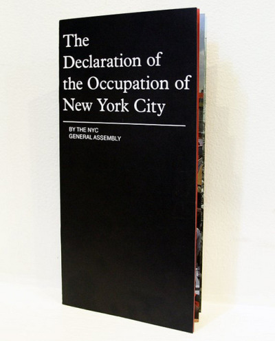 The Declaration of the Occupation! BY #NYC General Assembly via @Occuprint. Read more about it here.