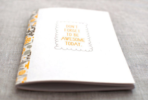stationerylove:  (via Handmade Mini Journal Be Awesome Today by HappyDappyBits on Etsy)