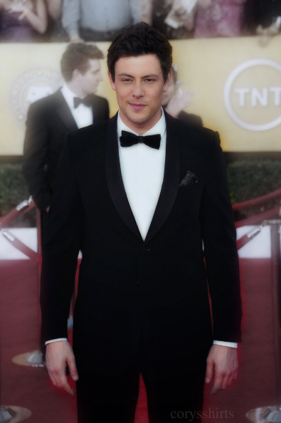 """We haven't seen Cory look this good on a red carpet in, well, ever, and he steps up to the SAG plate with this sleek shawl collar tux that's right for his taller frame. We'll throw in extra points for the patterned pocket square that adds a little personality without distracting the eye.""    - GQ Style Report: The Best-dressed Men at the Screen Actors Guild Awards (Source)"