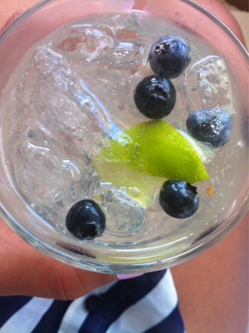 calmkai:  alaea:  chilled water + blueberries + lime = ohhh lordy  q'd at cher lloyd concert x