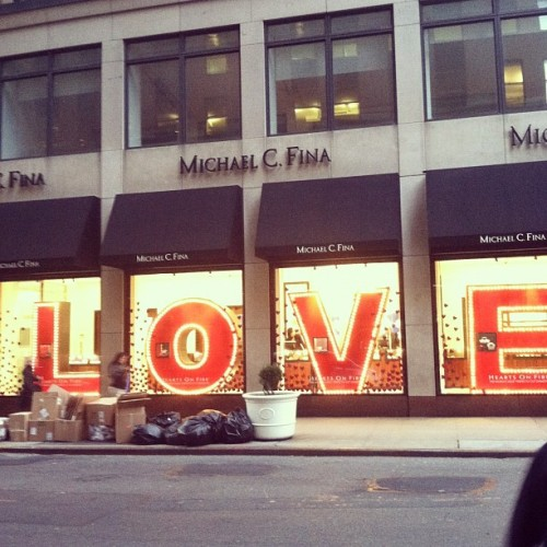 downtownjoshbrown:  Love on 45th Street  (Taken with instagram)