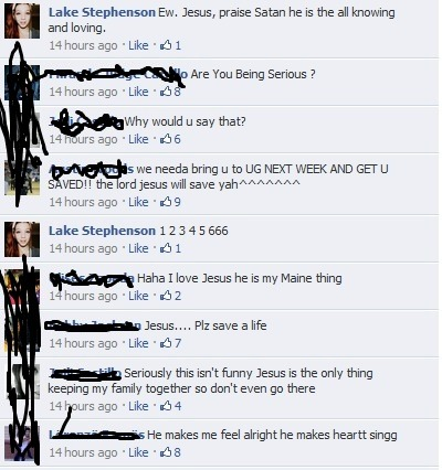 Ha, Christians these days, they don't know how to take a joke.