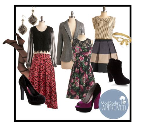 "modcloth:  leighloveslife asked you: Hello! I am a fashion lover, and I really love modcloth. But I have trouble with mixing and matching different colors and patterns. Also, I get frustrated trying to mix fabrics. Are there any ""rules"" that can help keep me from clashing colors, patterns, even different fabrics? It can get really overwhelming. Thanks so much! Hi there! Mixing prints is a great trend that anyone can achieve. One of my favorite combinations is stripes and florals, you can start easy by throwing a striped blazer over a floral dress. You can also mix neutrals like black and navy or olive and tan for easy, yet chic colorblocking. Even a simple animal print separate can be incorporated by adding a lace top or striped tights. Click here for the link to this polyvore board. Hope this helps! <3 Amy, ModStylist"