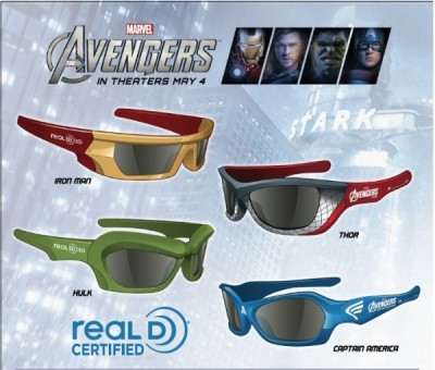 (via Marvel Will Release Special Edition 3D Glasses For 'The Avengers' | Ology)