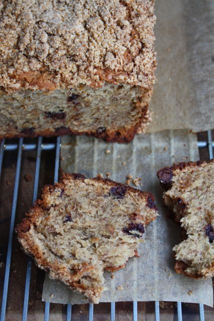 imgoingtobeacook:  Banana Peanut Butter Crumble Bread click image for recipe