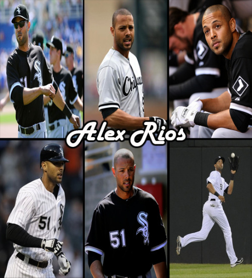 sexybaseballplayers:  Chicago White Sox | Alex Rios - Outfielder #51