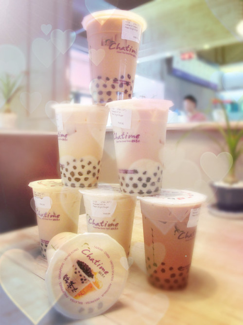 sophiafay:  chatime bubble milk tea    Mmm…