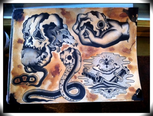 "New sheet done. ""I want your skulls"". 9x12 for sale. Make me an offer. Thanks.  ~Jacob James"