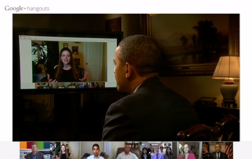 newsweek:  President Obama's just hangin' out, chattin' up the Internet.