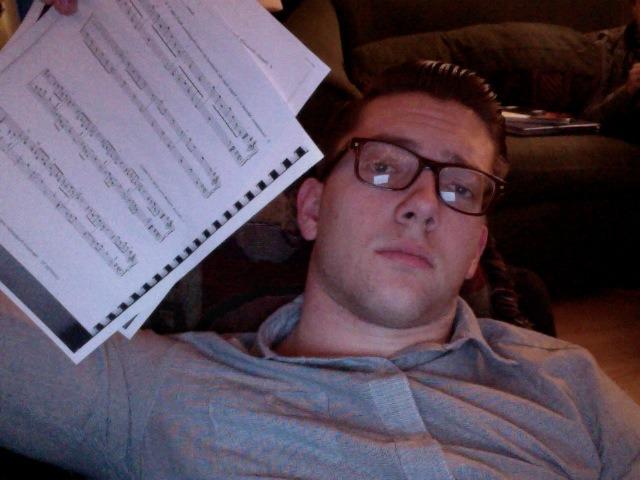 New glasses and homework.