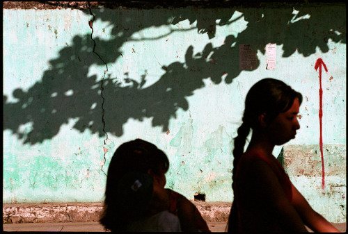 Yangon, Myanmar on Flickr.Via Flickr: Street shot, women and shadows