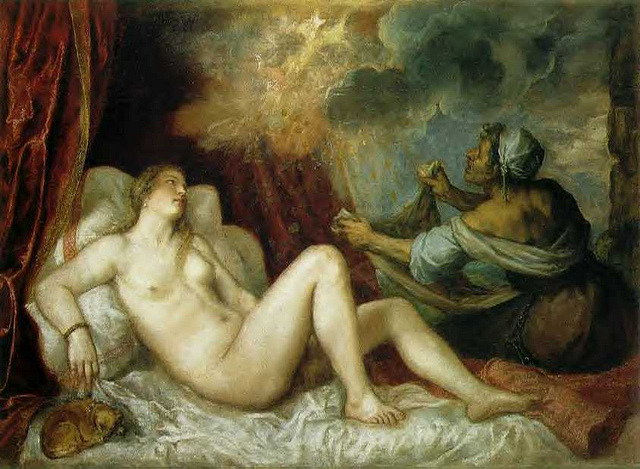 titian_danae by Stlukesguild1 on Flickr.  Titian, Danae and the shower of gold