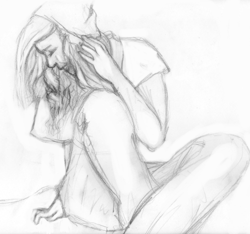 Day 26 A preliminary sketch for Gabby's birfday present~~ Shhhh don't tell her
