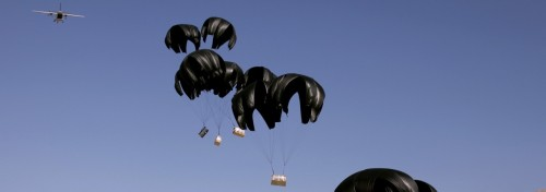 A Safer Humanitarian Air Drop, Courtesy Of Crowdsourcing And The Air Force      Dropping those pallets of water and food out of planes isn't as easy as it looks. But through the wisdom of crowds (and one smart Dutchman), now we can get aid to people after disasters quite a bit easier.  Full Story: Fastcoexist