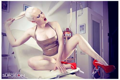 my beautiful gold latex dress from HMS Latex shot by Surgeon Studios.