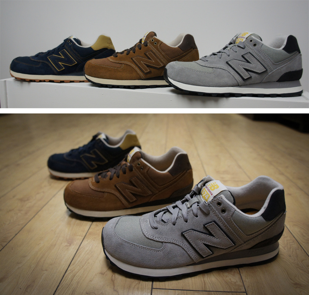 "Persona x Anchor Division // New Balance - 574 ""Workwear"" Pack Inspired by American work uniforms, the New Balance ML574 ""Workwear"" Pack is a tribute to the blue-collar worker on the hardest working running shoe, the 574. The classic 1988 model is presented in four new versions of premium suede, leather and canvas and is served up on a traditional ENCAP outsole in either black or gum."