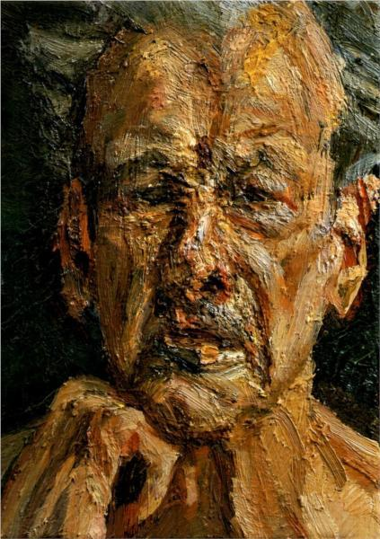 Lucian Freud, Self-Portrait, Reflection