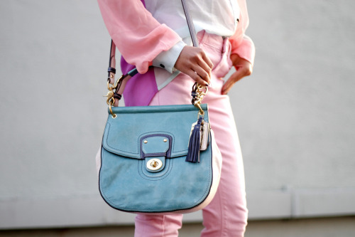 what-do-i-wear:   Lulu's Pastel Two Toned Blouse / Top Shop Pants / Willis Bag courtesy of Coach (image: lusttforlife)