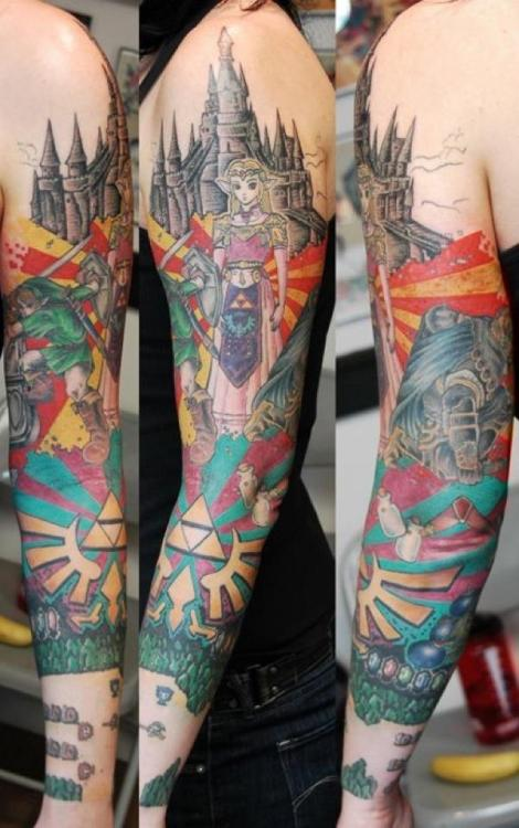 My roommates awesome Legend of Zelda sleeve.