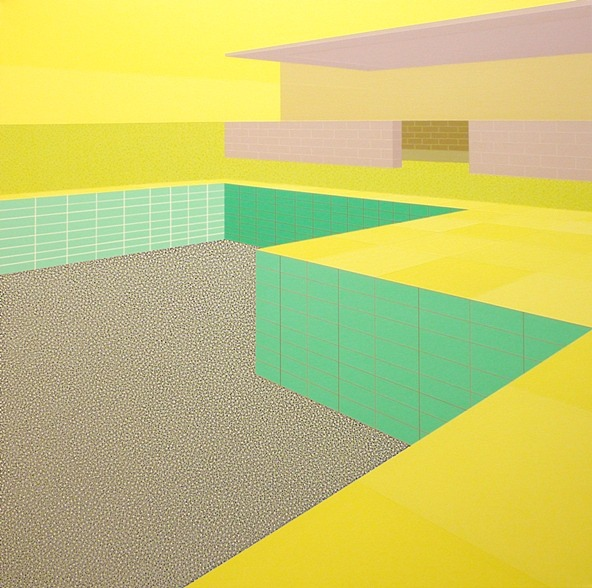 Michael Dotson, Painting, Cool. Swimming Pool #4 2010 Acrylic on Canvas.