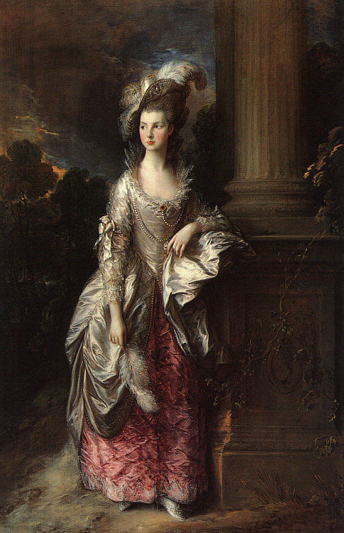 The Honourable Mrs. Graham by Thomas Gainsborough. I saw this at the National Gallery of Scotland a few years ago. This doesn't do it justice.