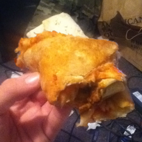 Pizza-wrapped Burrito.  Custom made. That's what's up.