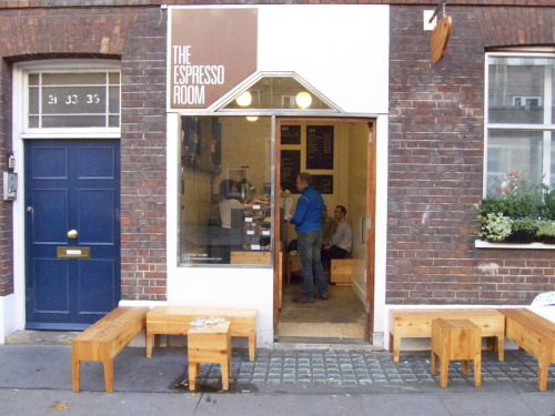 Went for coffee at the Espresso Room, on Great Ormond Street in Bloomsbury.