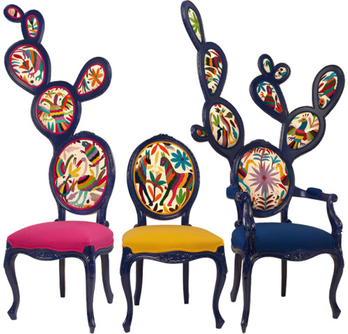 Oh my goodness!  Would you look at these prickly chairs by Mexican designer Valentina Gonzalez Wohlers.  I found them while checking out one of my fave blogs— Honestly WTF.  Ok, well, they found them and I get to reap the feast for the eyes benefits (and share it with you).
