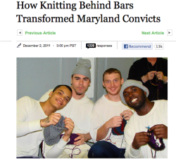 tenshiko:   sushiandpie:  taco-bell-rey:    EXCEPT THIS ISNT JUST A FUNNY HAHA SILLY HEADLINE GUYS this is really important and is a really great program that teaches skills to inmates and allows them to basically receive group therapy while they are simultaneously learning a craft IT IS ALSO REALLY RADICAL BECAUSE IT BREAKS NOT ONLY THE STEREOTYPE THAT INMATES ARE INCAPABLE OF BEING DECENT HUMAN BEINGS WHO CAN TALK OUT THEIR ISSUES AND HEAL AND BE F