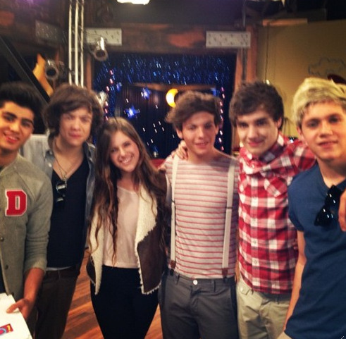 The boys on the set of iCarly…